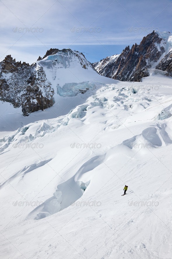 Man's skiing - Stock Photo - Images