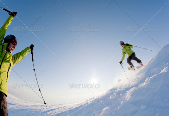 Freeride skier - Stock Photo - Images
