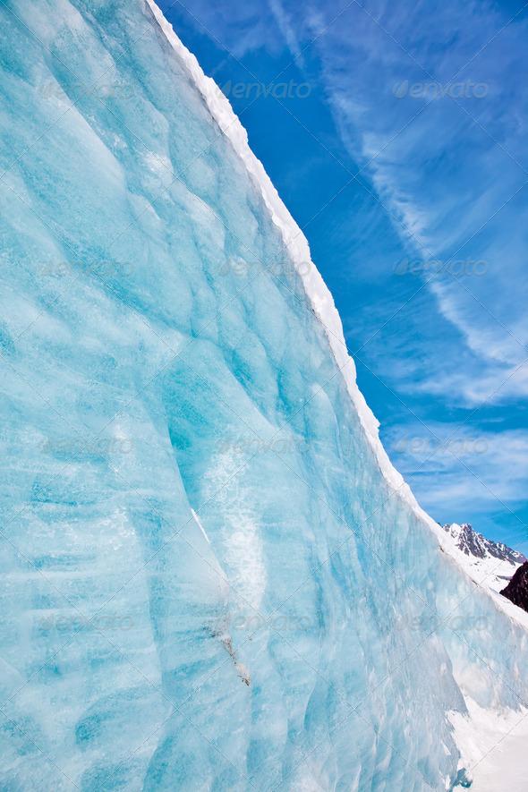 Mountain glacier - Stock Photo - Images
