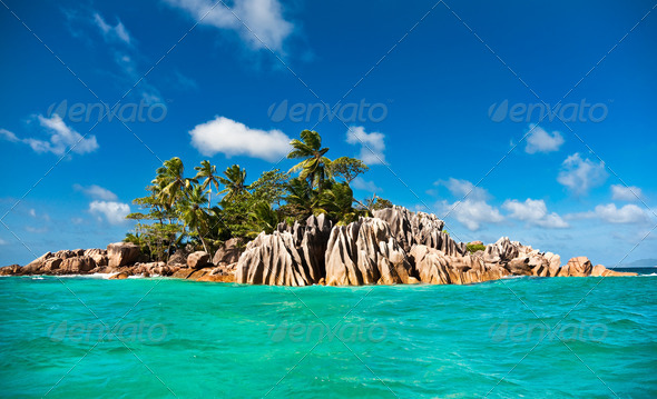 St. Pierre island, Seychelles - Stock Photo - Images