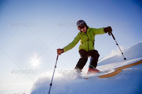 Freeride skier - Stock Photo - Images