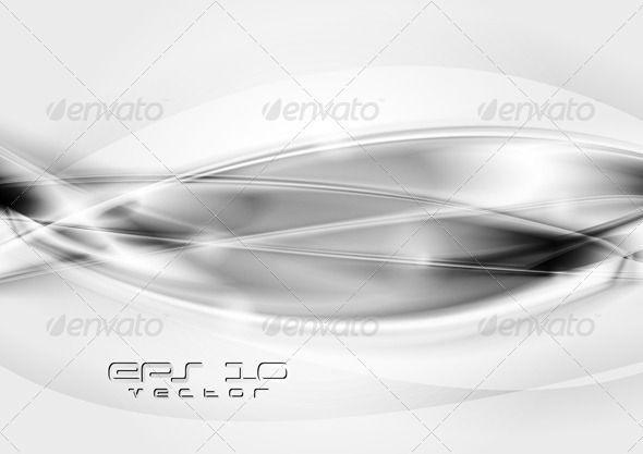 Abstract waves background. Vector template - Abstract Conceptual