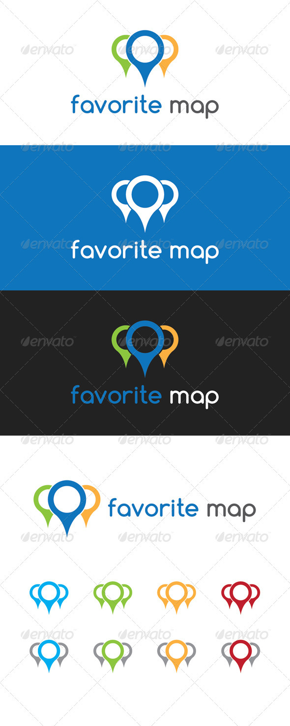 Favorite Map Logo - Symbols Logo Templates