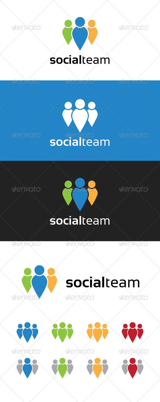 Social Team Logo - Humans Logo Templates