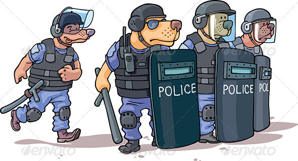 Police - Animals Characters