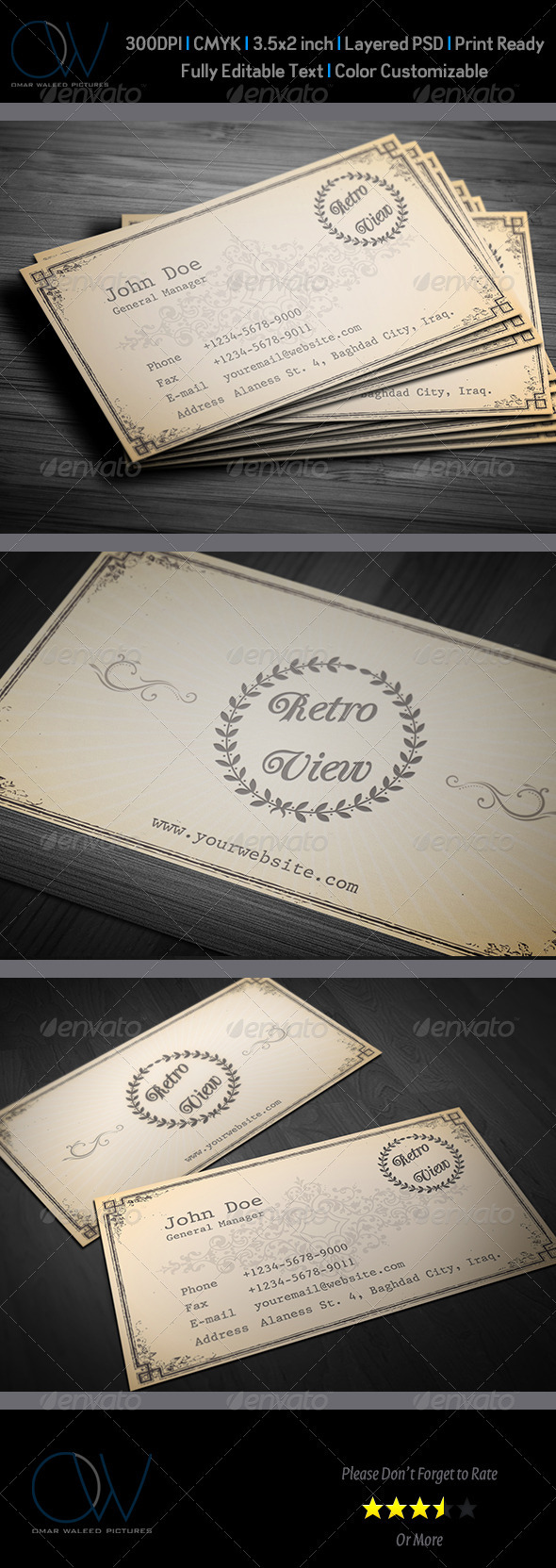 Retro / Vintage Business Card - Retro/Vintage Business Cards