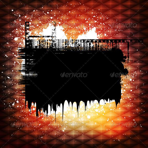 Grungy design banner - Abstract Conceptual