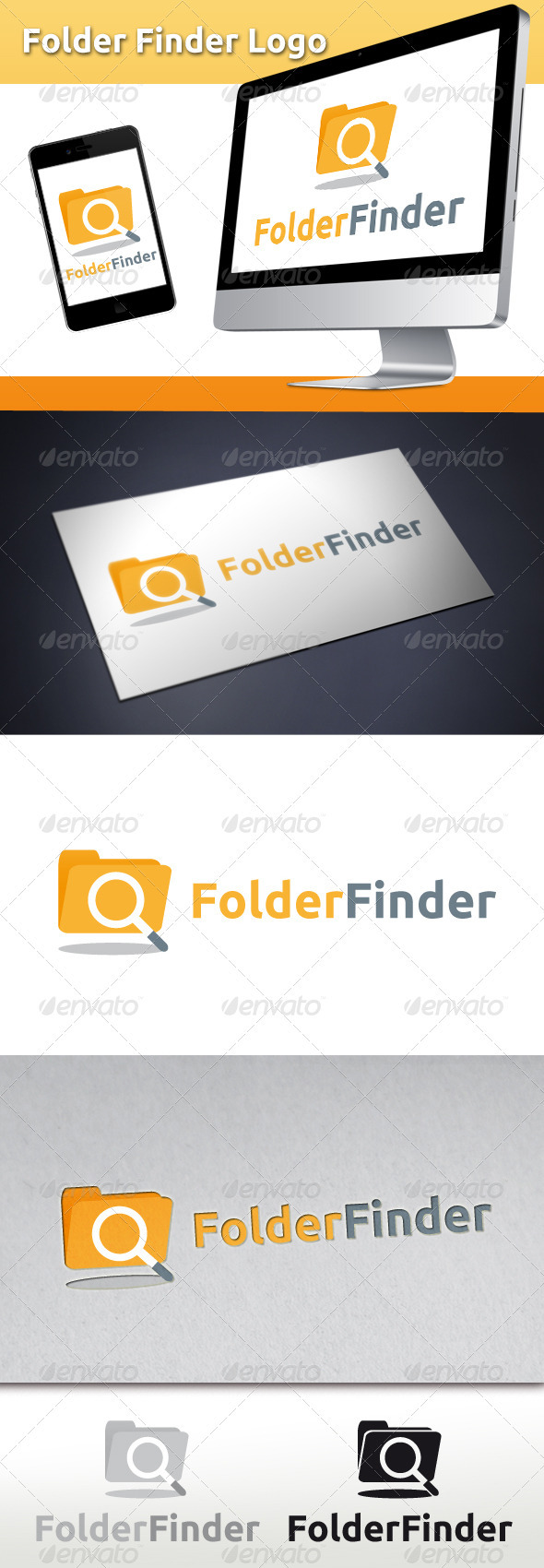 Folder Finder Logo - Symbols Logo Templates