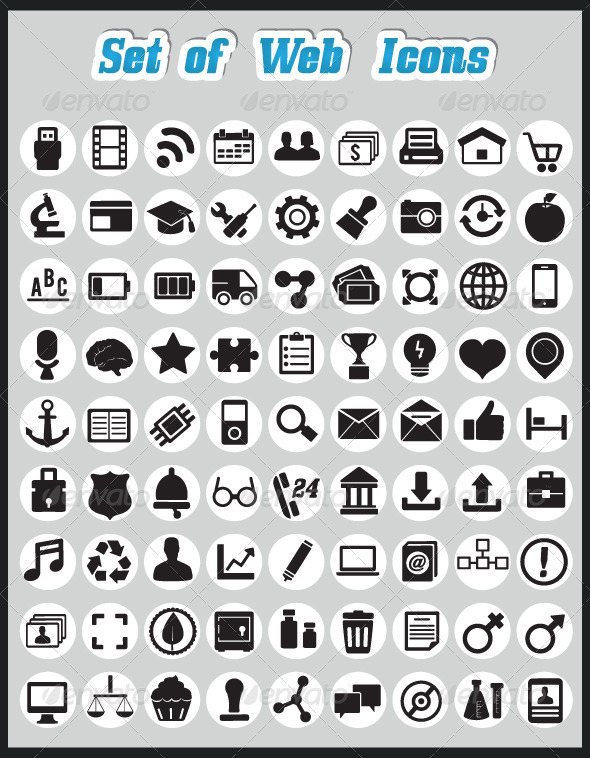 Set of web icons - Web Technology