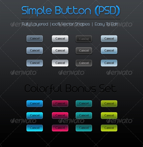 Simple Web Button - Buttons Web Elements