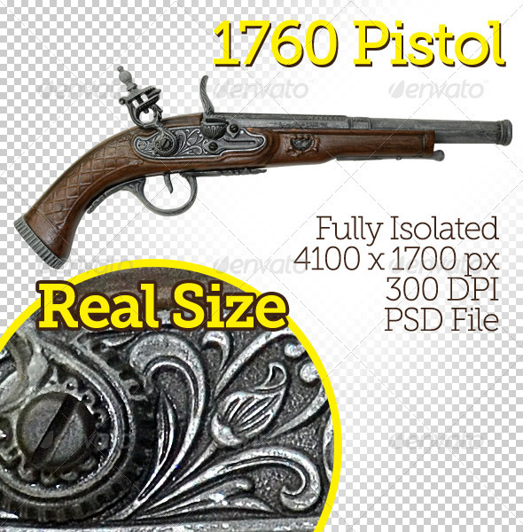 Old Pistol - Miscellaneous Isolated Objects