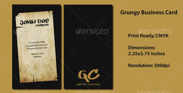 Grungy Business Card - Grunge Business Cards