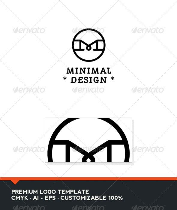 Minimal Design - Letter M Logo Template - Letters Logo Templates