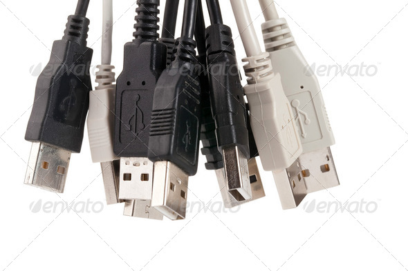 various usb connectors - Stock Photo - Images