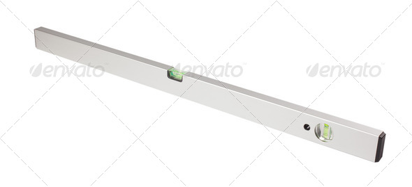 detail of spirit level - Stock Photo - Images