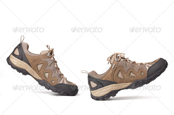 Hiking boots - Stock Photo - Images