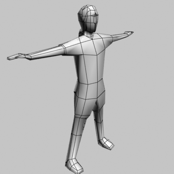 Low Poly People Man Base Object include Bone and R - 3DOcean Item for Sale