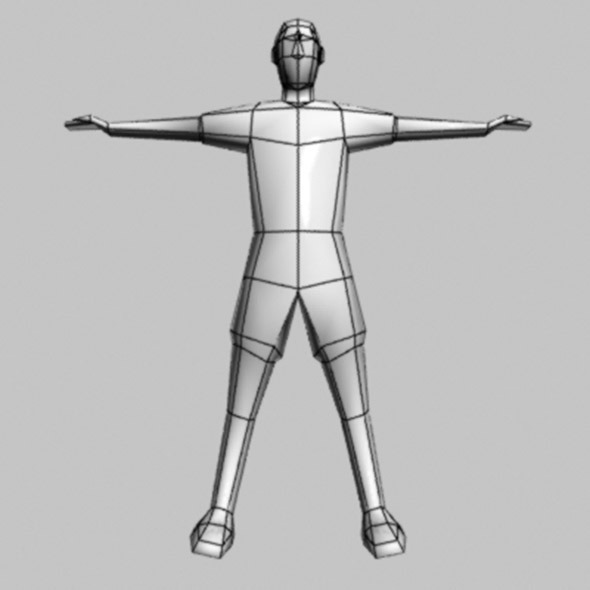 Low Poly People Man Base Object Include Bone And R By