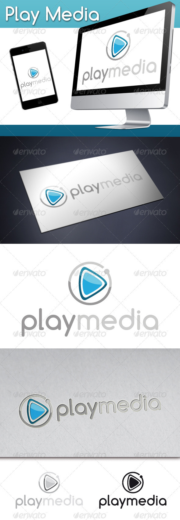 Play Media Logo 1 - Symbols Logo Templates