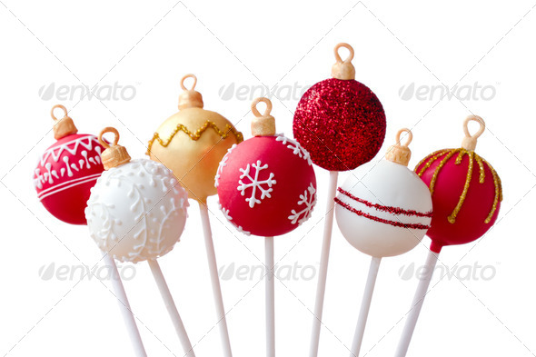 Christmas cake pops - Stock Photo - Images