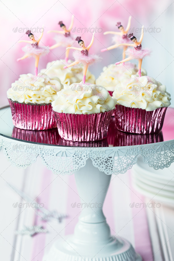 Ballerina cupcakes - Stock Photo - Images