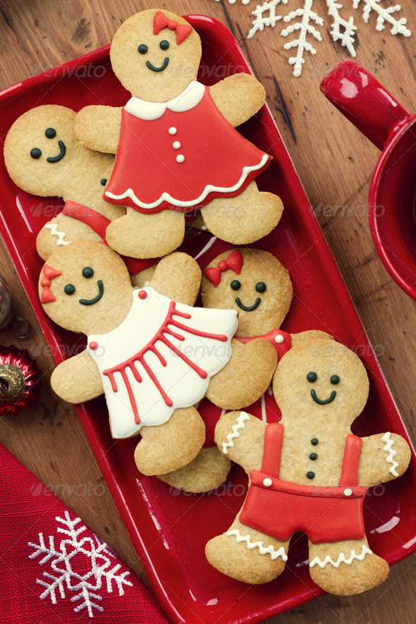 Gingerbread men - Stock Photo - Images