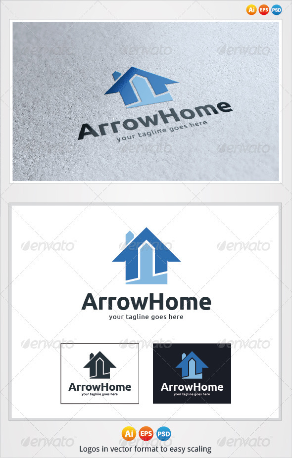 Arrow Home Logo - Buildings Logo Templates