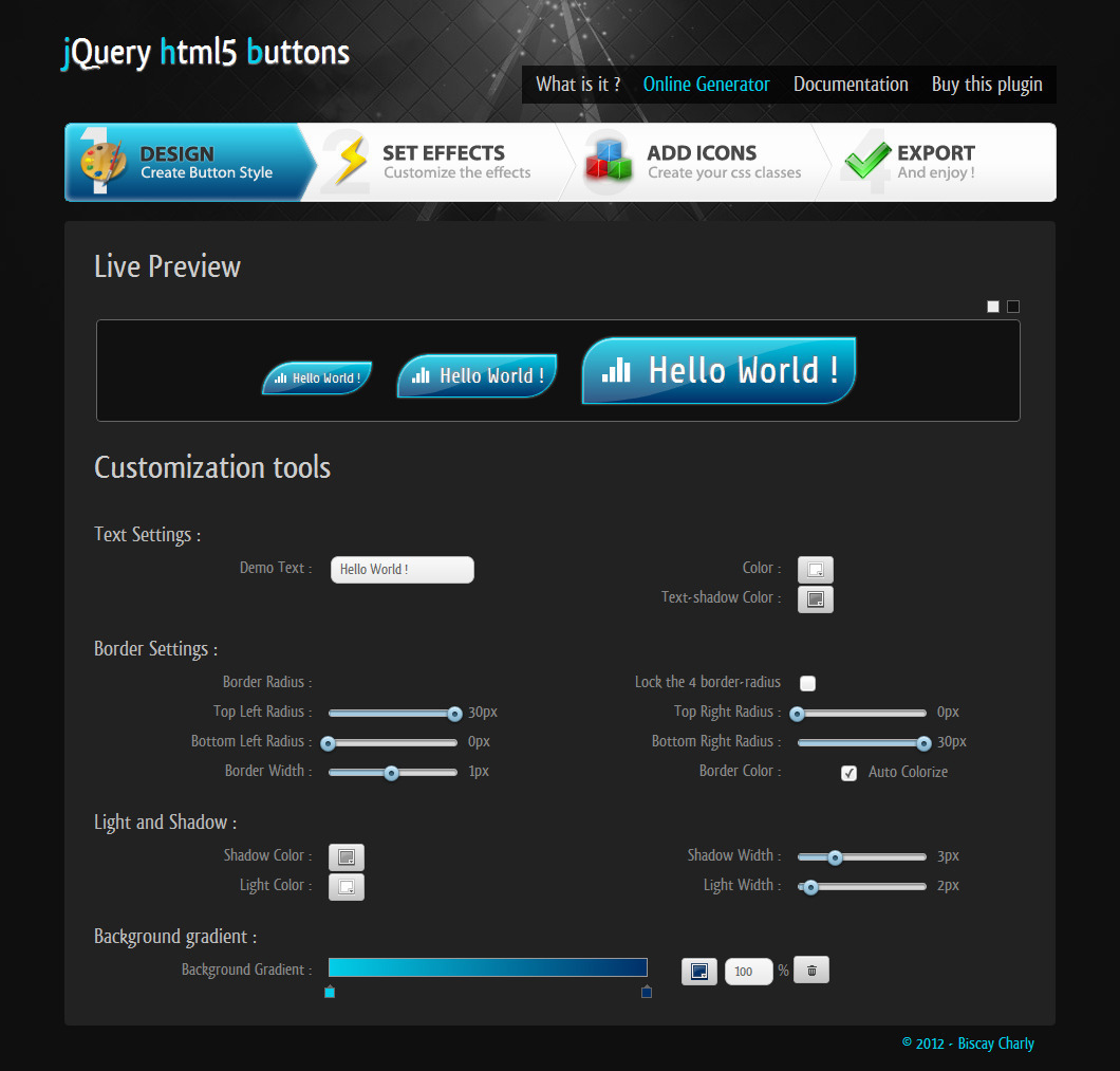 jQuery Html5 Buttons