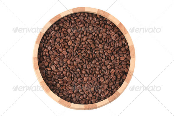 coffee beans in bowl - Stock Photo - Images