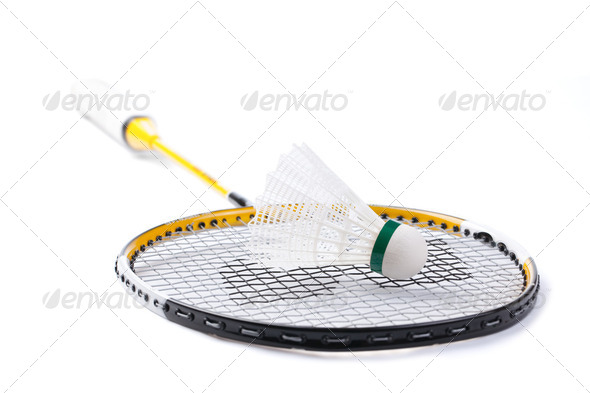 badminton shuttlecock - Stock Photo - Images