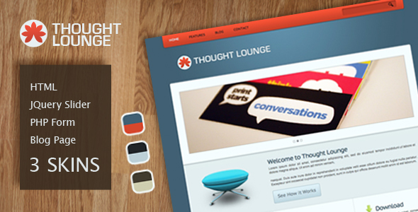 Thought Lounge HTML Template