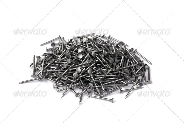 a lot of nails - Stock Photo - Images