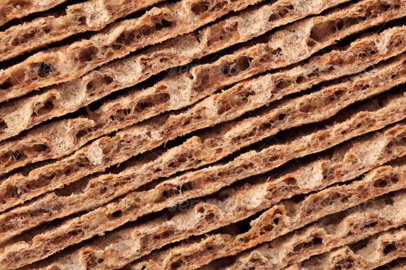 stack of crispbread - Stock Photo - Images