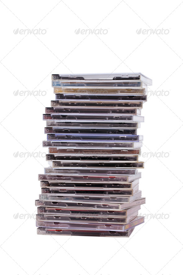 pile of cd - Stock Photo - Images