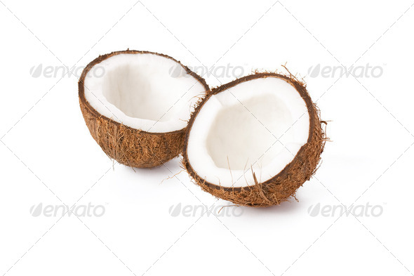 two half coconut - Stock Photo - Images