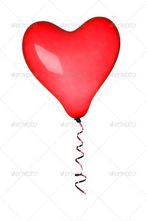 red heart ballon - Stock Photo - Images