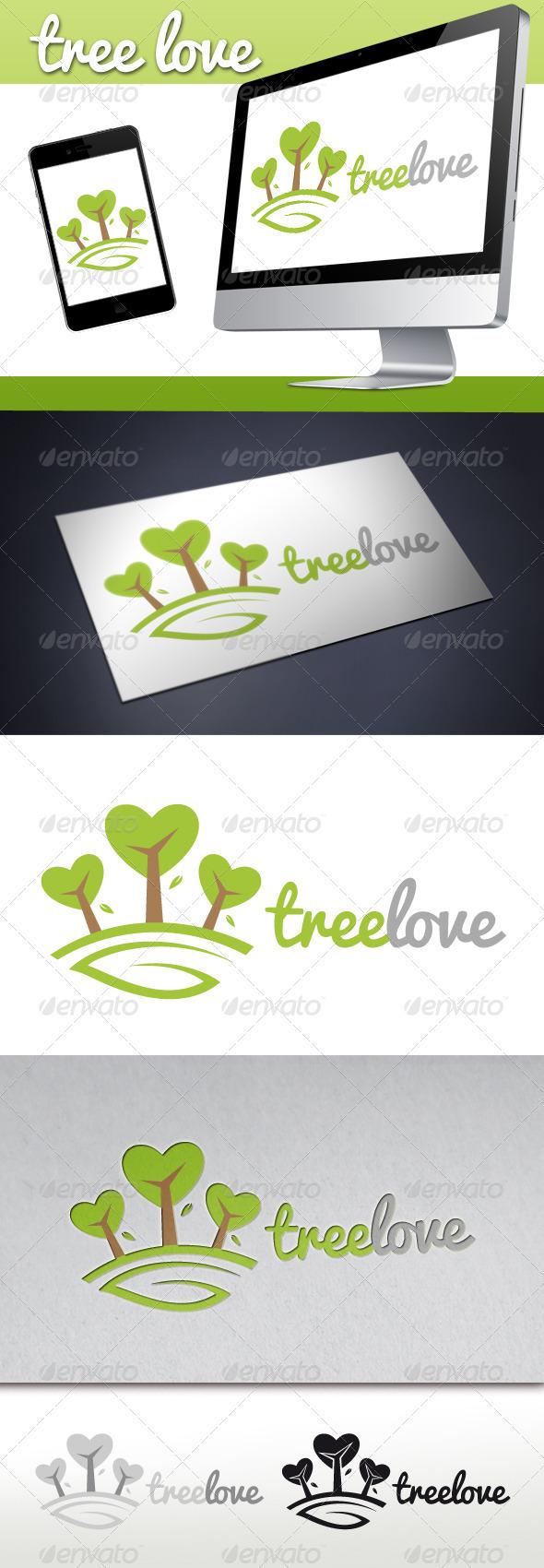 Love Tree Logo - Nature Logo Templates