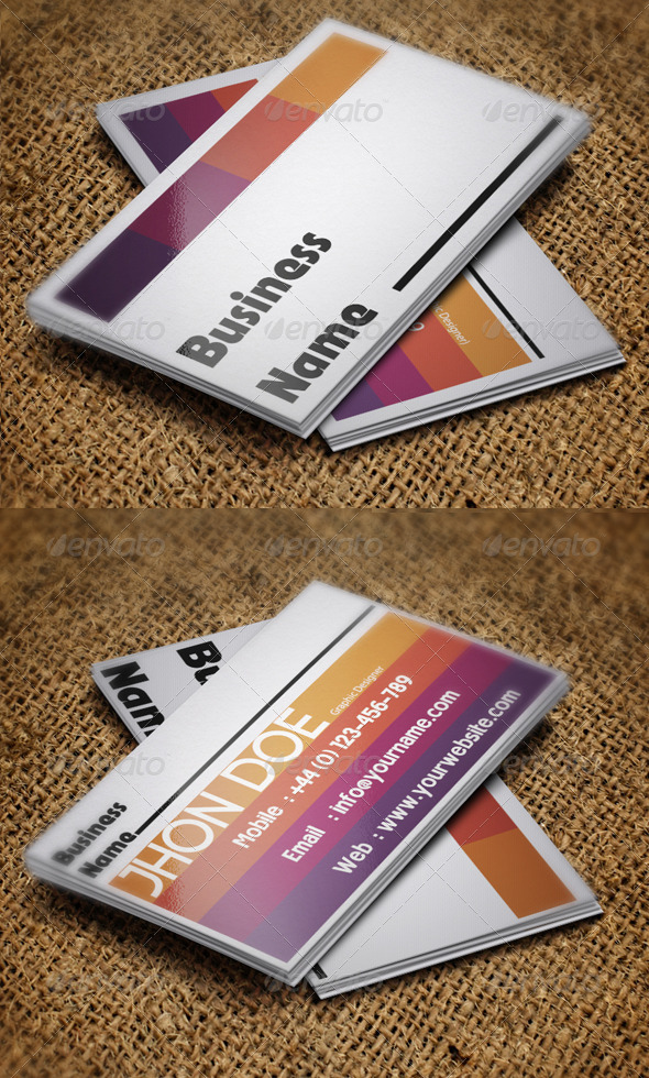 Graphic Designer Business - Creative Business Cards