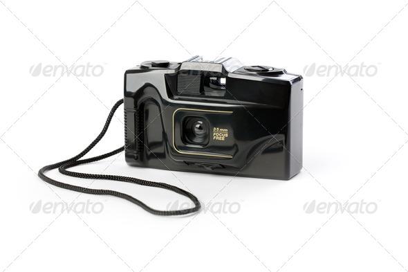 retro analogue compact camera - Stock Photo - Images