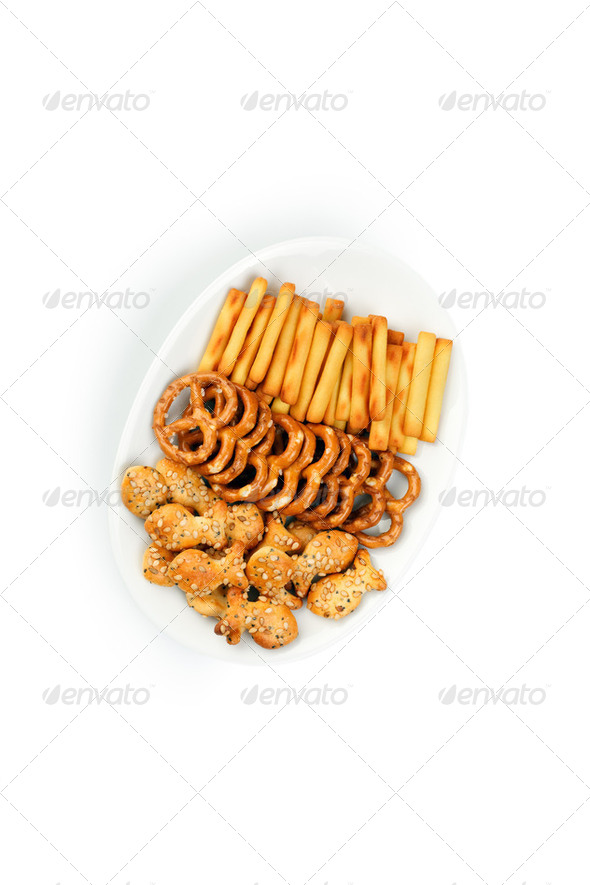 salty snacks - Stock Photo - Images