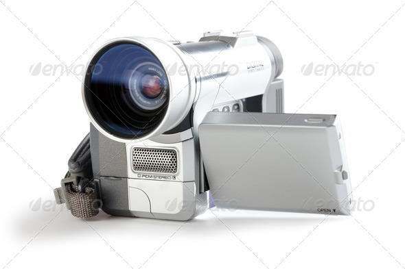 amateur camcorder - Stock Photo - Images