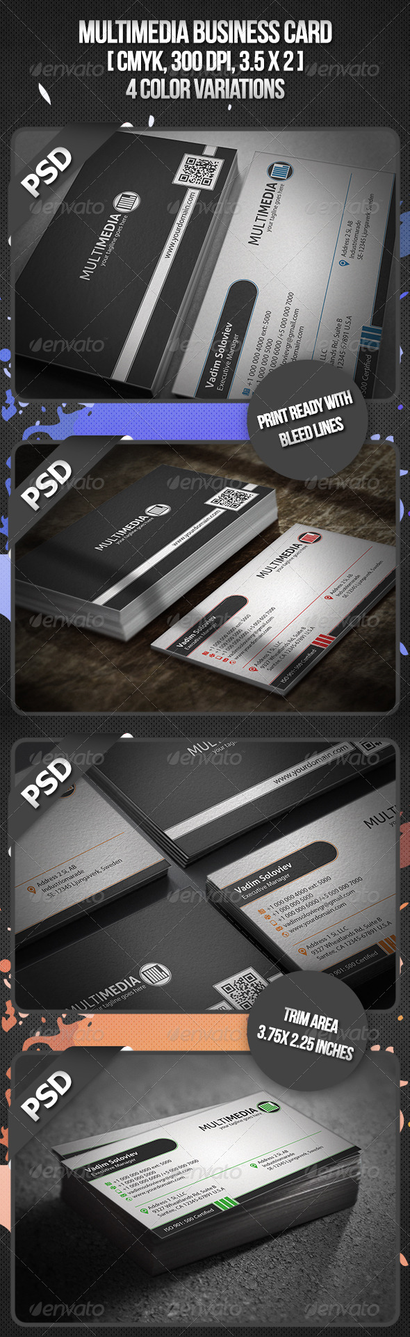 Multimedia Business Card - Corporate Business Cards
