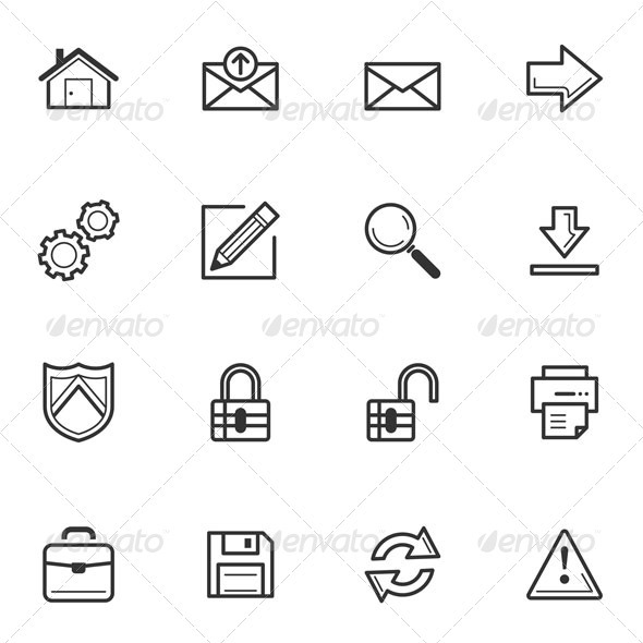 Web Icons-Set 1 - Web Icons