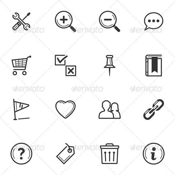 Web Icons-Set 2 - Web Icons