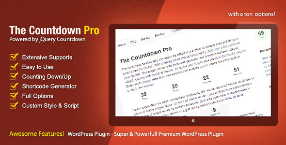 The Countdown Pro - CodeCanyon Item for Sale