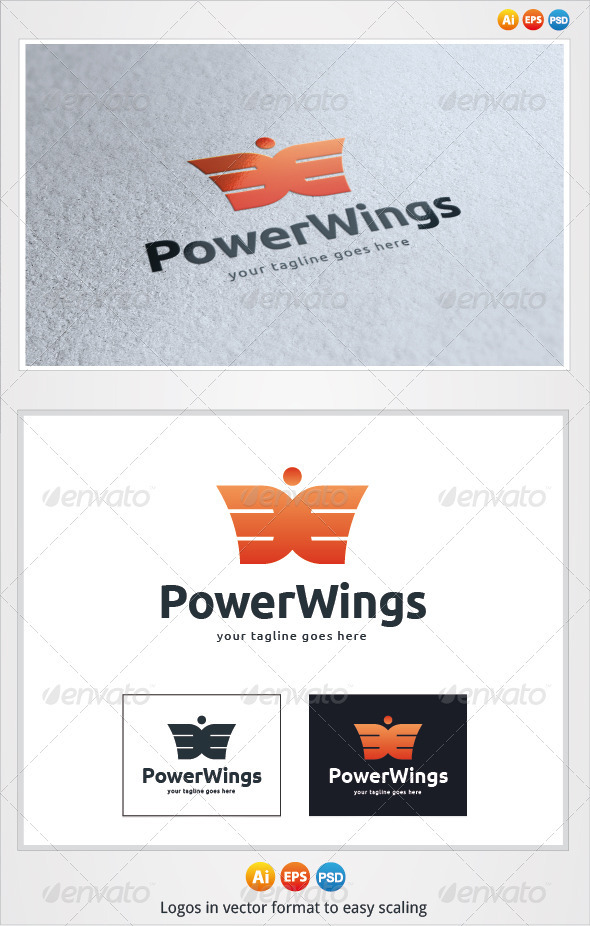 Power Wings Logo - Symbols Logo Templates
