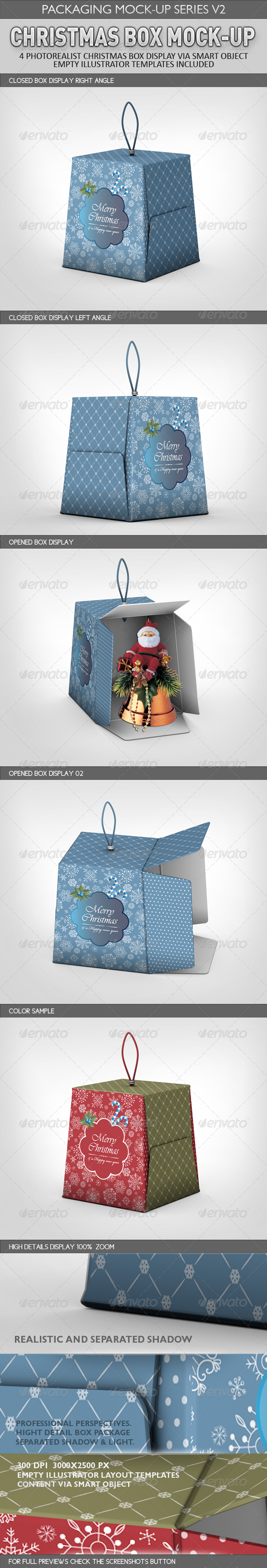 Christmas Box Mock-Up - Miscellaneous Packaging