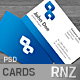 Blue Business Cards 4 VERSIONS - GraphicRiver Item for Sale