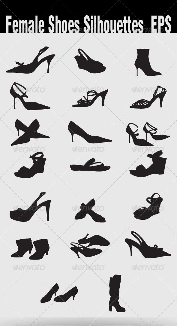 Female Shoes Silhouettes - Retail Commercial / Shopping