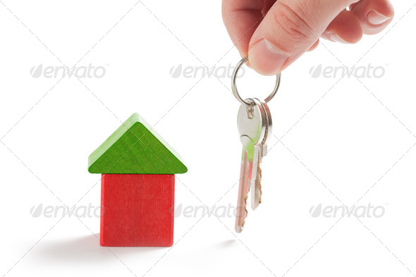 keys and model house - Stock Photo - Images